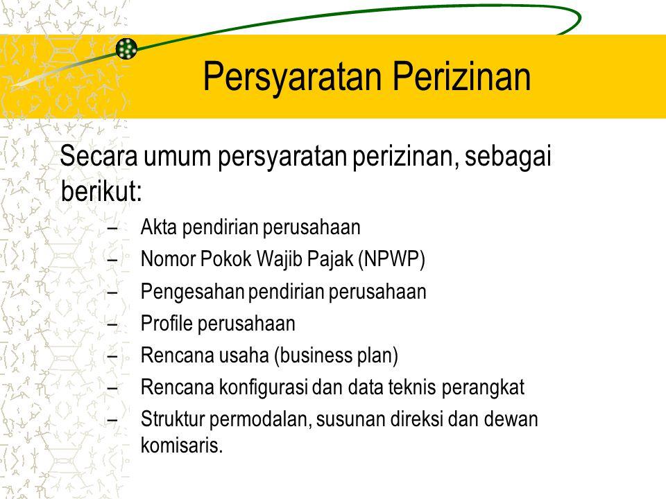 Diagram Alur Perizinan Jasa Telekomunikasi