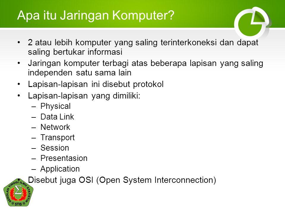 Keamanan Data dan Jaringan Komputer STIS3 Apa itu Jaringan Komputer.