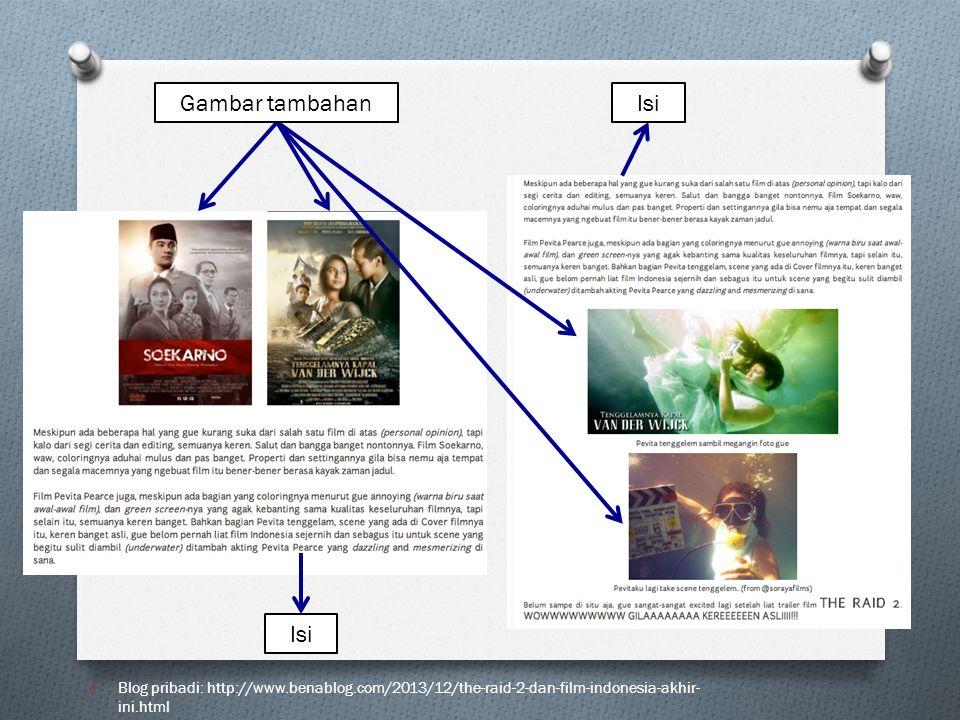 O Blog pribadi: http://www.benablog.com/2013/12/the-raid-2-dan-film-indonesia-akhir- ini.html Gambar tambahan Isi