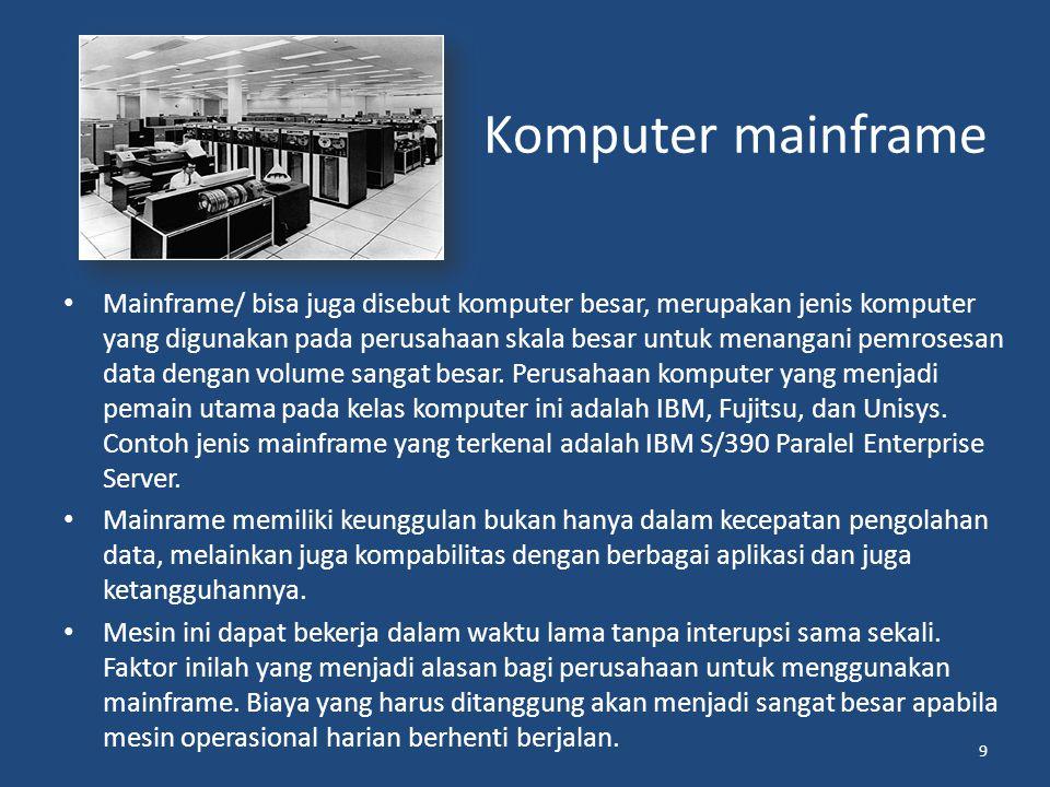 Komputer berdasarkan penggunaannya 1.Special Purpose Computer; Special purpose computer berarti komputer untuk keperluan khusus.