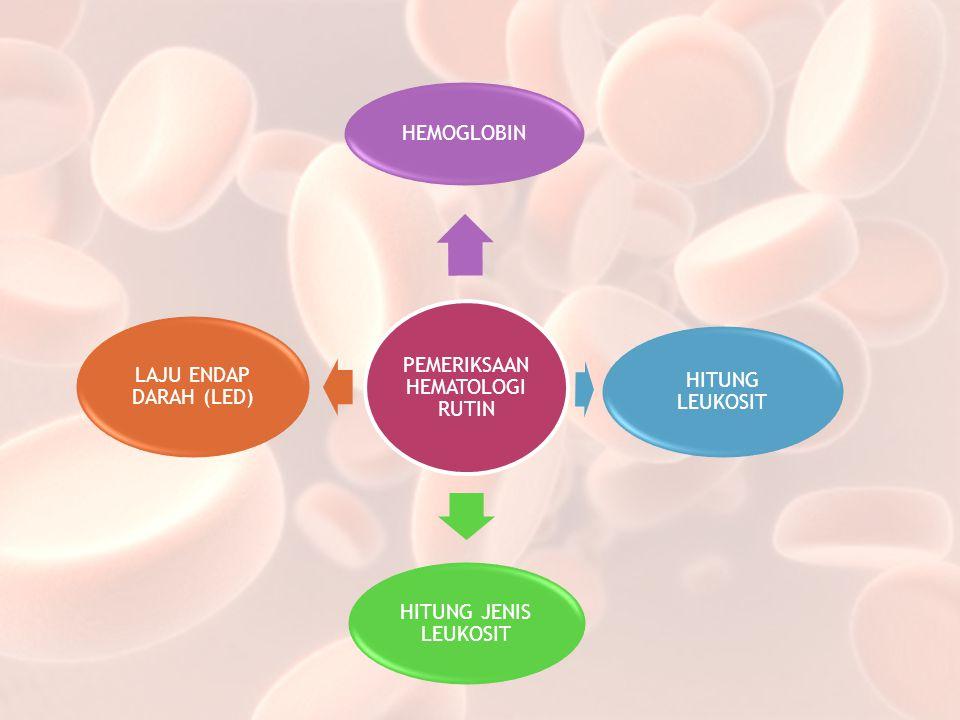 PEMERIKSAAN HEMATOLOGI RUTIN HEMOGLOBIN HITUNG LEUKOSIT HITUNG JENIS LEUKOSIT LAJU ENDAP DARAH (LED)