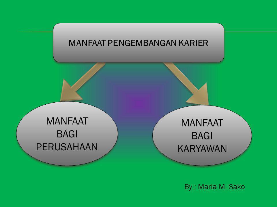 By : Maria M. Sako MANFAAT PENGEMBANGAN KARIER MANFAAT BAGI PERUSAHAAN MANFAAT BAGI PERUSAHAAN MANFAAT BAGI KARYAWAN MANFAAT BAGI KARYAWAN