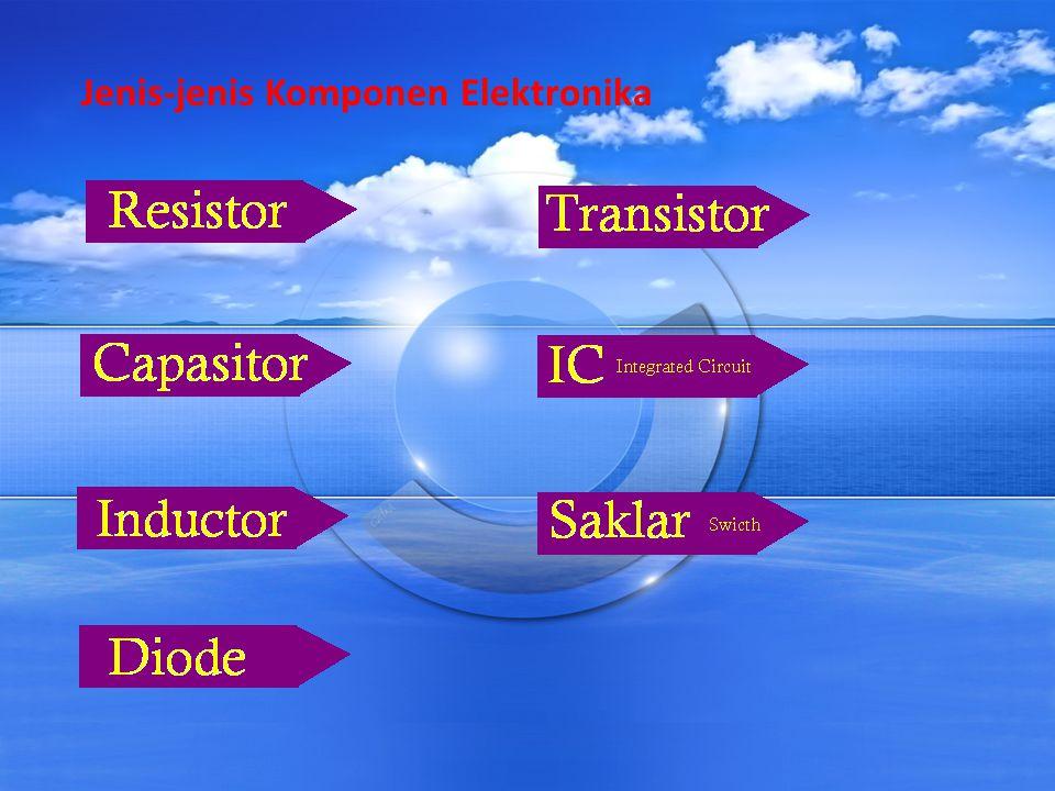 Resistor Resistor atau disebut juga dengan Hambatan adalah Komponen Elektronika Pasif yang berfungsi untuk menghambat dan mengatur arus listrik dalam suatu rangkaian Elektronika.