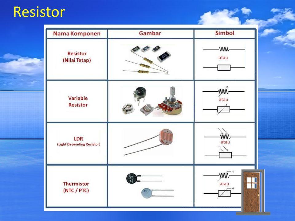 Capasitor Kapasitor atau disebut juga dengan Kondensator adalah Komponen Elektronika Pasif yang dapat menyimpan energi atau muatan listrik dalam sementara waktu.