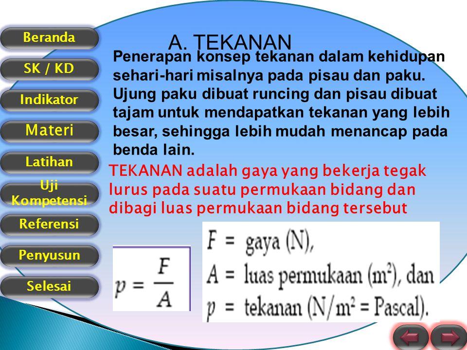 Beranda SK / KD Indikator Materi Latihan Uji Kompetensi Referensi Selesai Penyusun B.