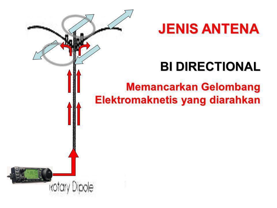 BI DIRECTIONAL Memancarkan Gelombang Elektromaknetis yang diarahkan
