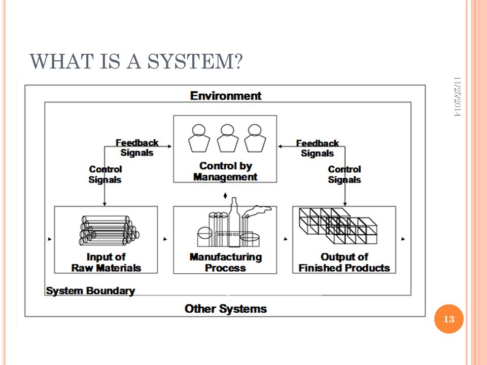 WHAT IS A SYSTEM? 11/25/2014 13