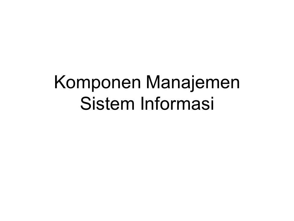 Meliputi: IS Strategy IT Strategy IM Strategy