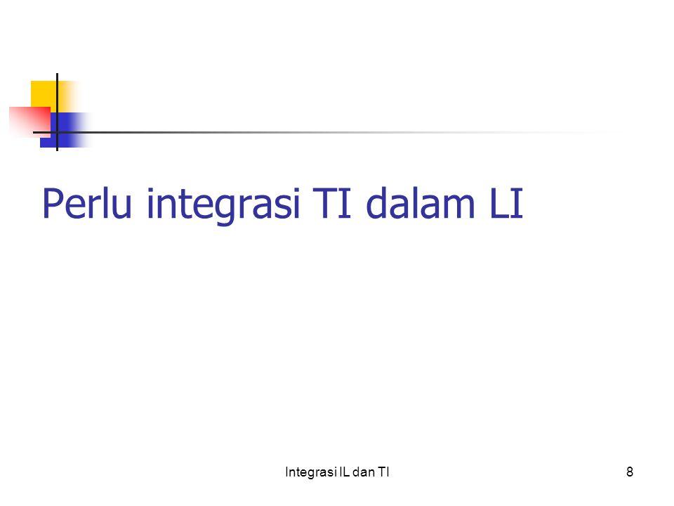 Perlu integrasi TI dalam LI 8Integrasi IL dan TI