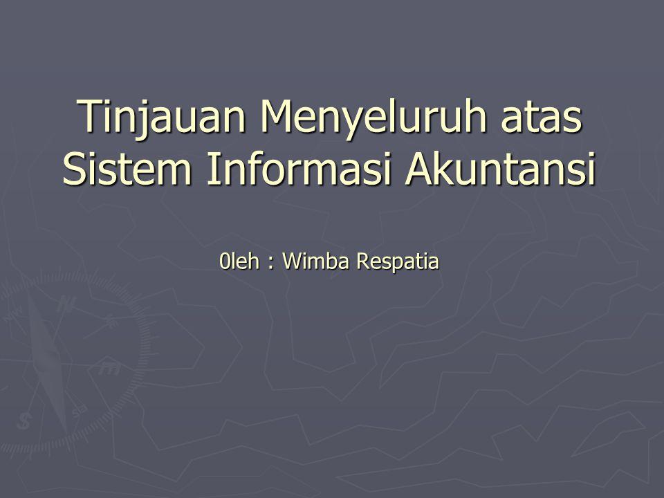 Tinjauan Menyeluruh atas Sistem Informasi Akuntansi 0leh : Wimba Respatia