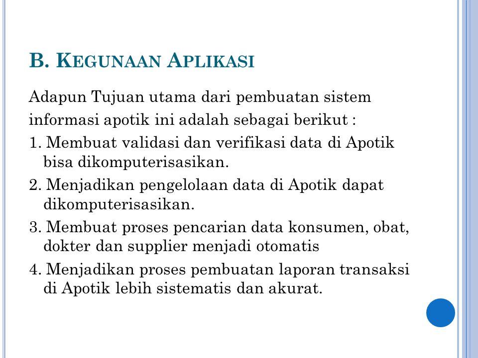 C.F ITUR -F ITUR PADA A PLIKASI a. Menu Login b. Menu Utama (Welcome) c.