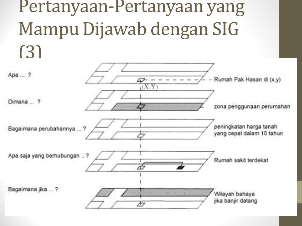 Pertanyaan-Pertanyaan yang Mampu Dijawab dengan SIG (3)
