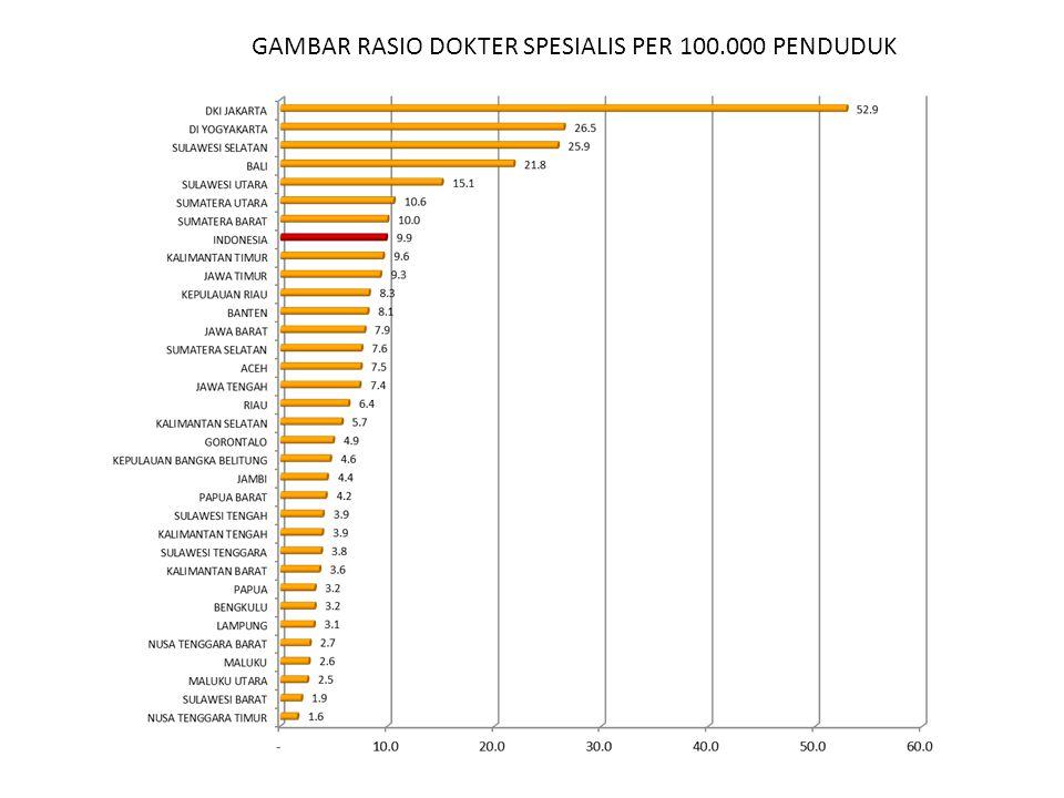 GAMBAR RASIO DOKTER SPESIALIS PER 100.000 PENDUDUK