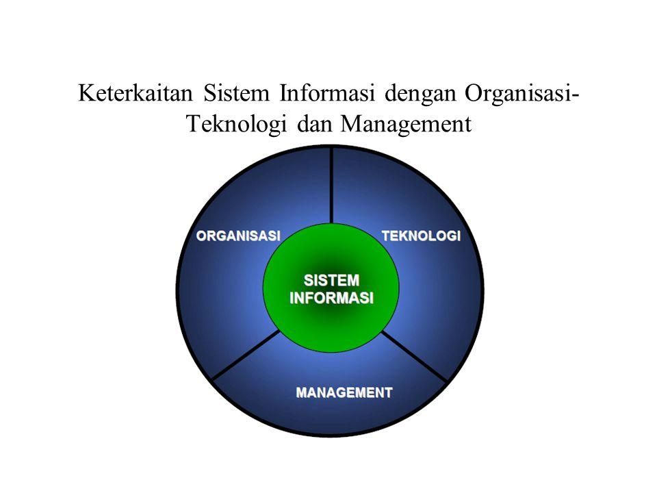 Keterkaitan Sistem Informasi dengan Organisasi- Teknologi dan Management