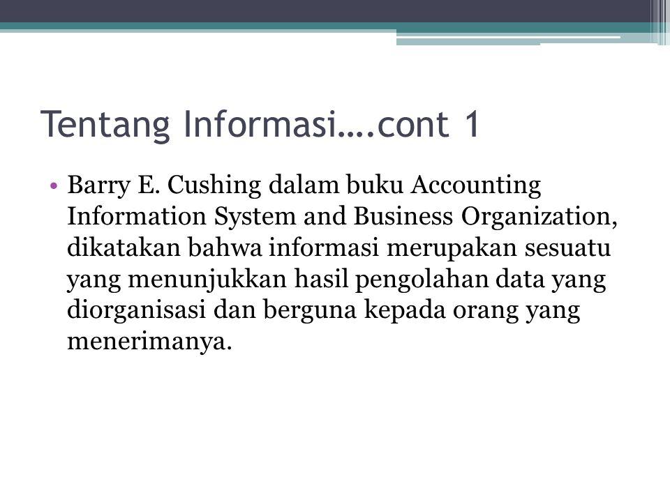 Tentang Informasi….cont 2 Robert N.