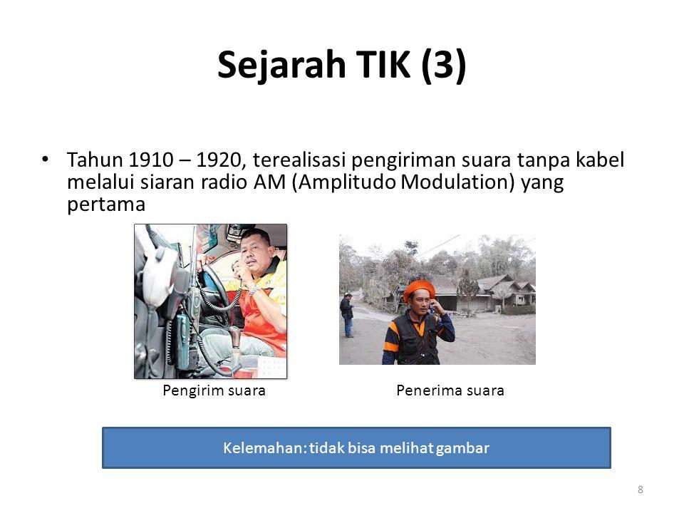 Sejarah TIK (4) Tahun 1940-an, terwujud transmisi audio-visual tanpa kabel, sehingga muncul siaran televisi 9