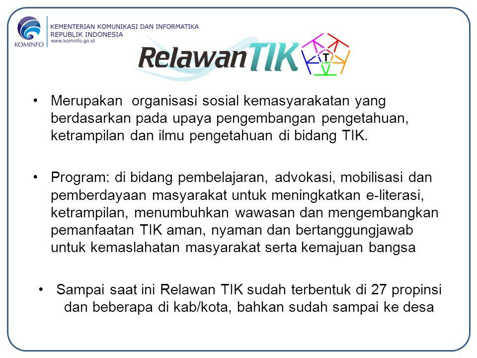 Merupakan organisasi sosial kemasyarakatan yang berdasarkan pada upaya pengembangan pengetahuan, ketrampilan dan ilmu pengetahuan di bidang TIK. Progr