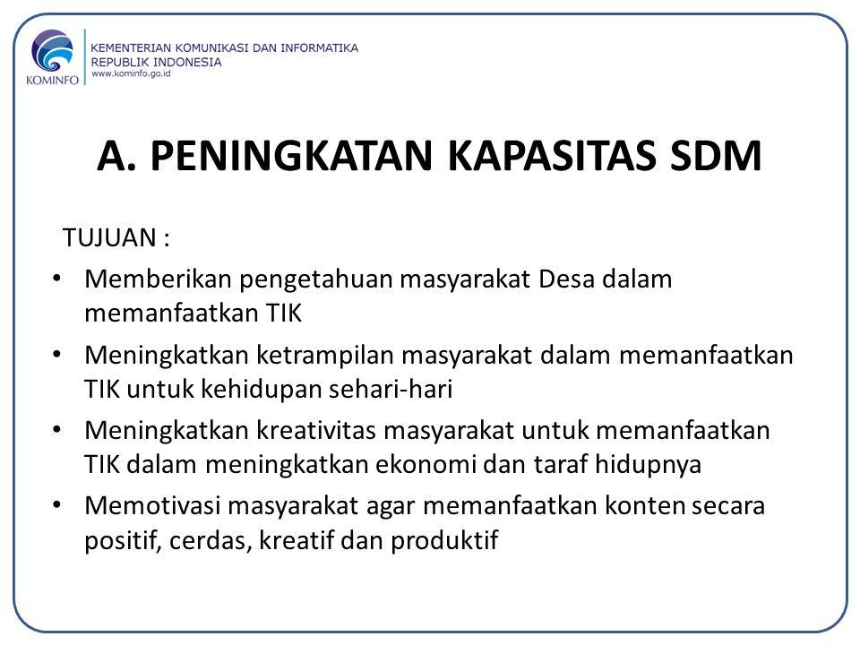 Program Festival DesTIKa(Desa TIK): Latar Belakang 1.Perkembangan akses informasi dan komunikasi tidak merata di Indonesia terutama di kawasan perdesaan.