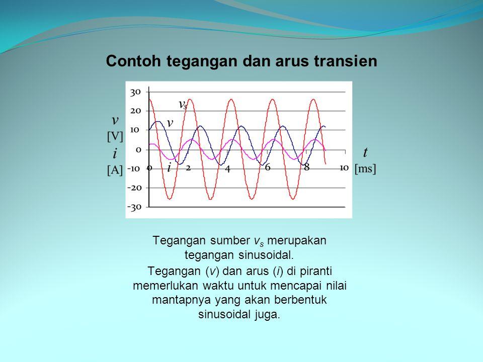 Tegangan sumber v s merupakan tegangan sinusoidal.
