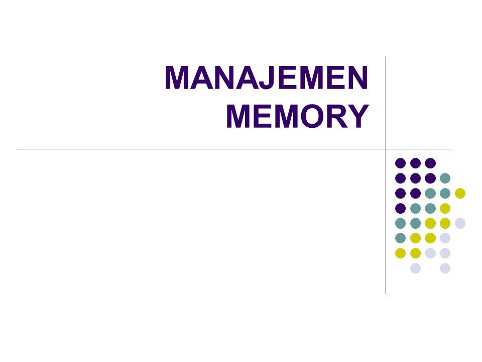 Latar Belakang Memory merupakan tempat menampung data dan kode instruksi program Memori adalah pusat kegiatan pada sebuah komputer, karena setiap proses yang akan dijalankan, harus melalui memori terlebih dahulu.