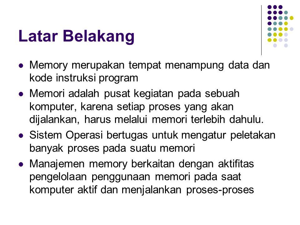 KONSEP DASAR REGISTER (Chip Processor) Cache Memory Main Memory Secondary Memory Hierarki organisasi memori pada sistem komputer