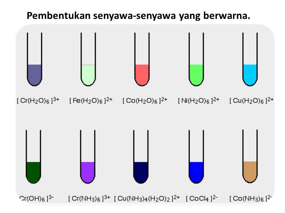 Pembentukan senyawa-senyawa yang berwarna..