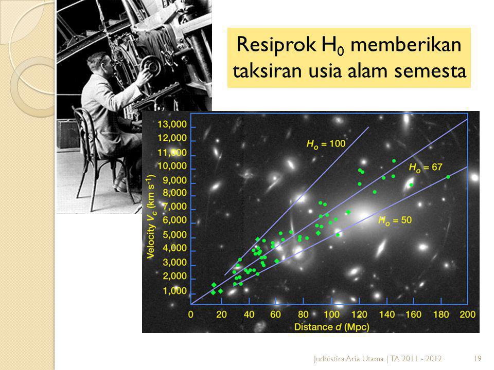 19Judhistira Aria Utama   TA 2011 - 2012 Resiprok H 0 memberikan taksiran usia alam semesta