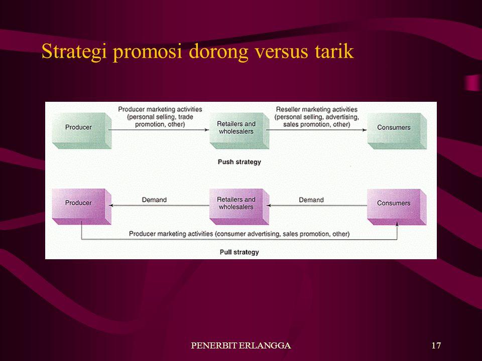 PENERBIT ERLANGGA17 Strategi promosi dorong versus tarik