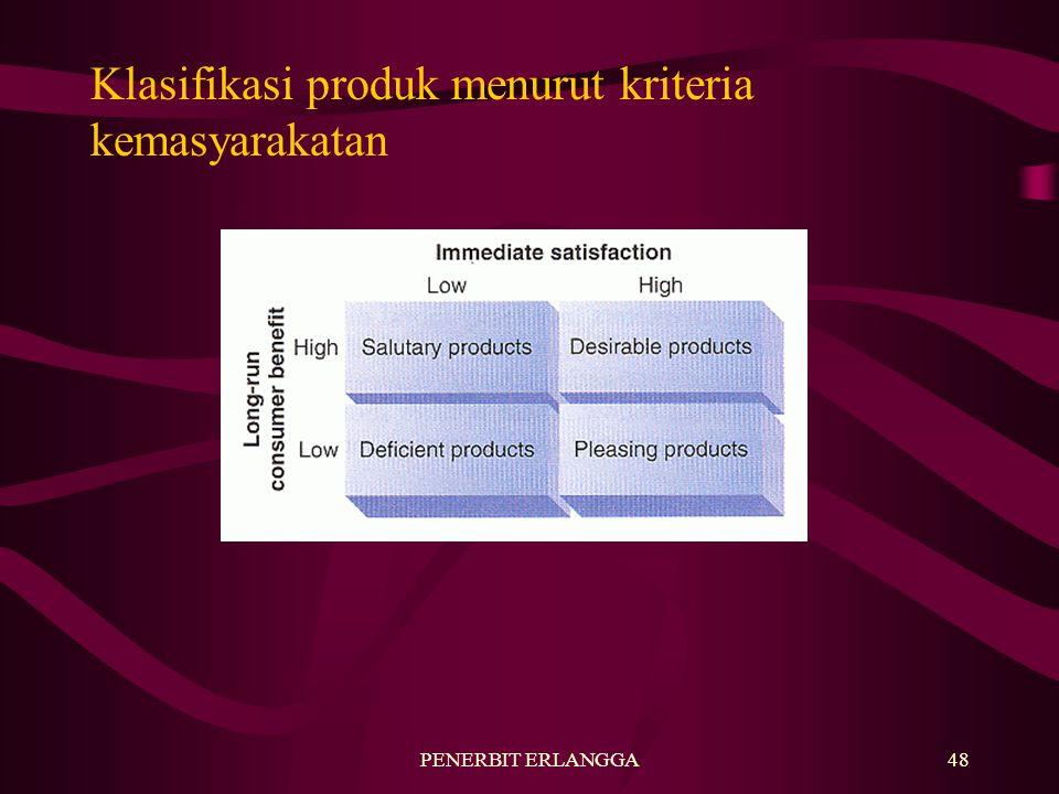 PENERBIT ERLANGGA48 Klasifikasi produk menurut kriteria kemasyarakatan
