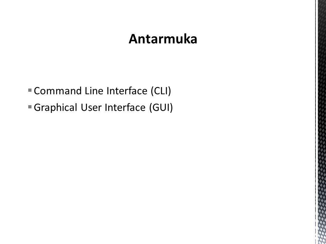 Command Line Interface (CLI)‏  Graphical User Interface (GUI)‏