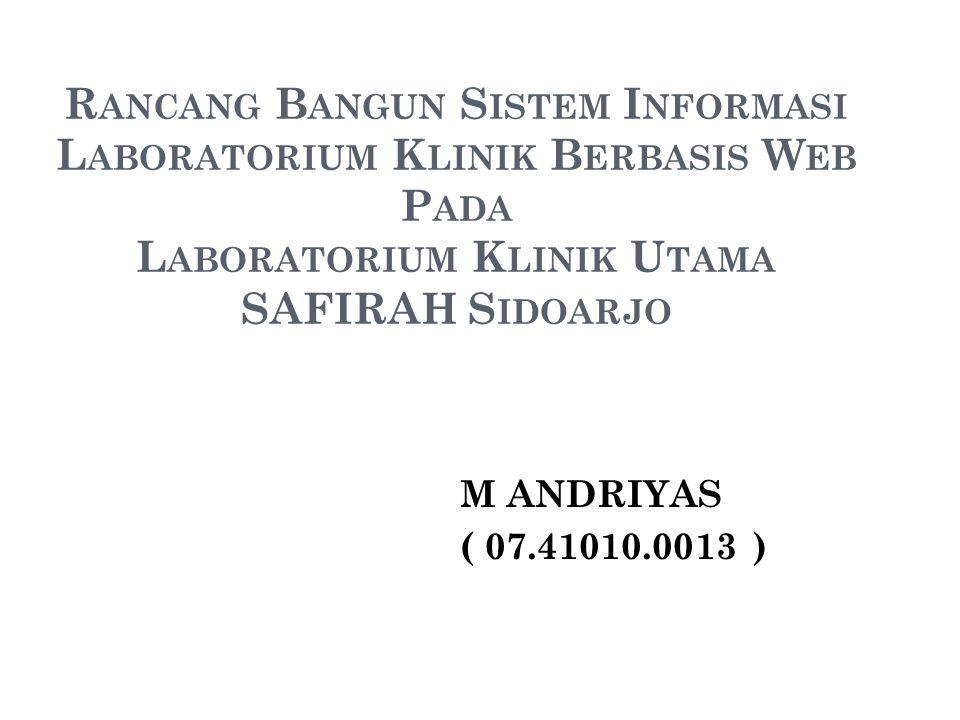 LATAR BELAKANG Lab Klinik Safirah