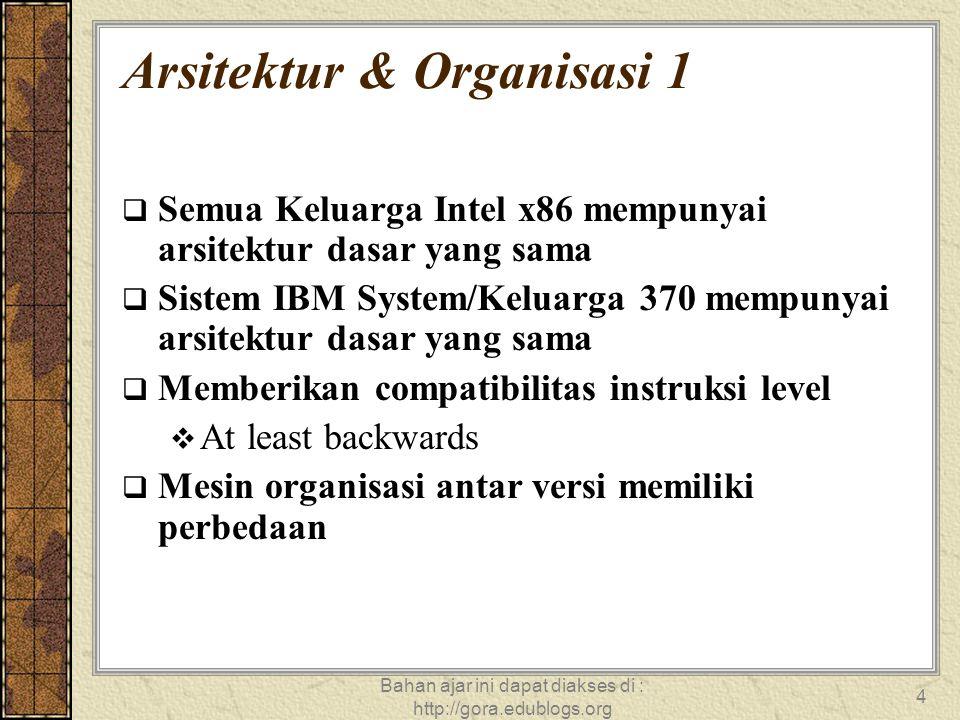 Bahan ajar ini dapat diakses di : http://gora.edublogs.org 15 Struktur – Unit Kontrol