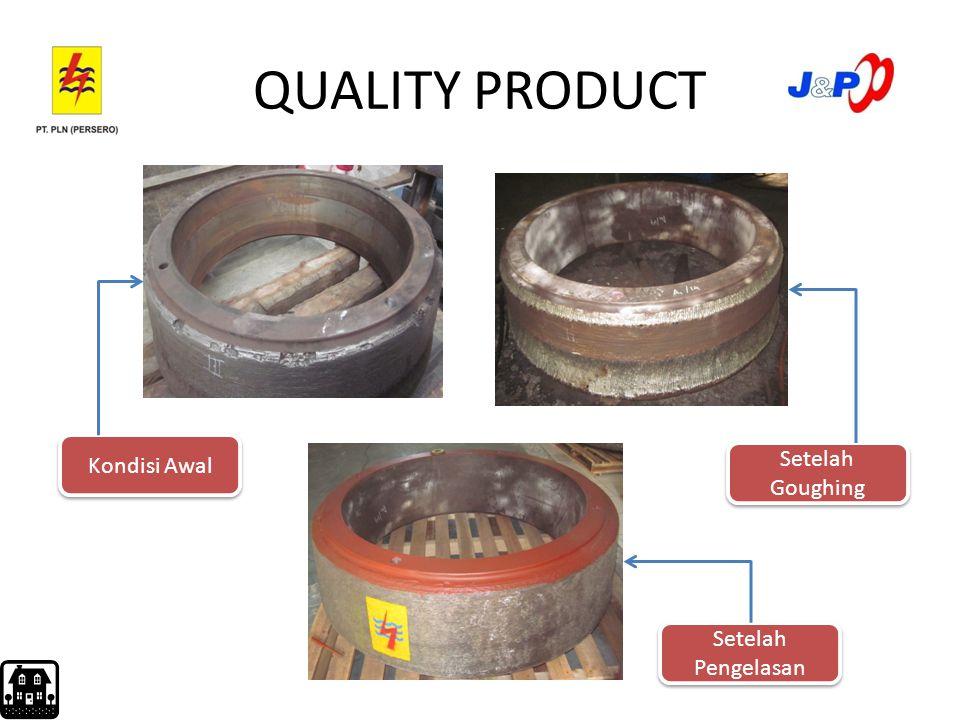 EFISIENSI MATERIAL UTAMA Efisiensi material utama merupakan efisiensi pemakaian kawat las Rumus: ɳ = berat KL pengisian (kg) x 100% berat KL terpakai (kg) Contoh : pada grinding roll B3/18B3/18 ɳ = 160 kg x 100% = 91,5 % 175 kg