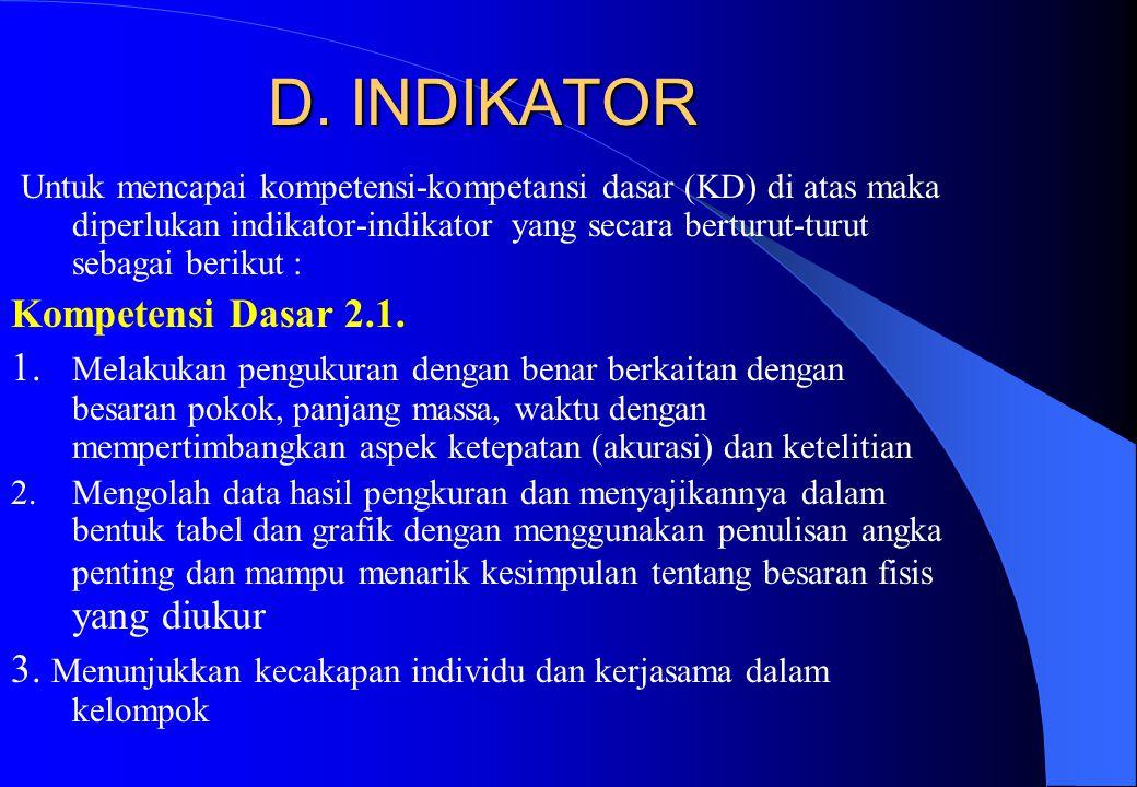 C.KOMPETENSI DASAR 2.1.