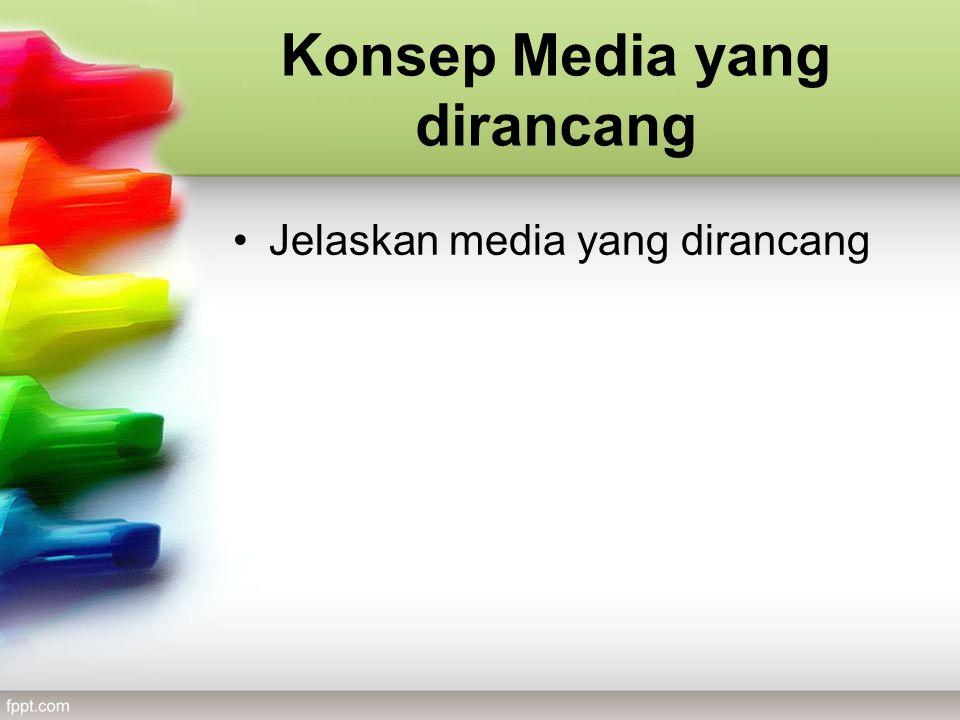 Konsep Media yang dirancang Jelaskan media yang dirancang
