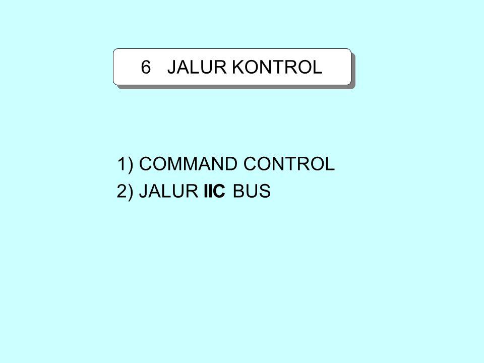 1) COMMAND CONTROL 2) JALUR IIC BUS 6 JALUR KONTROL