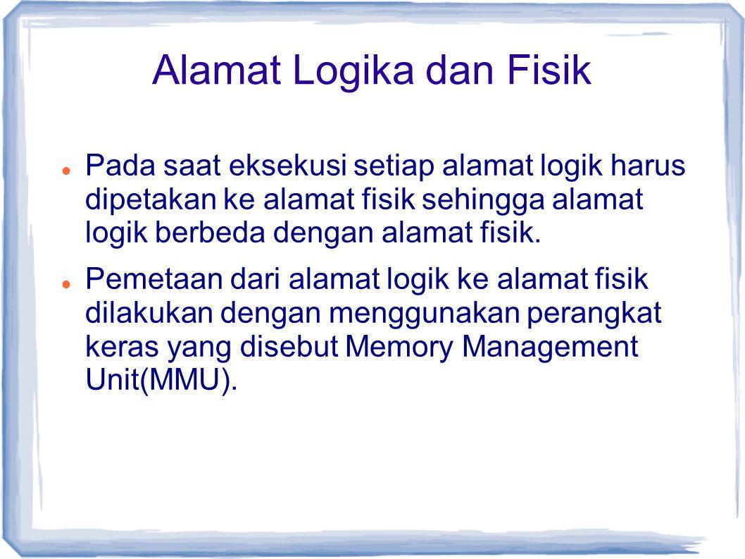 Algoritma Penggantian Page LRU (Least Recently Used) Algoritma FIFO = memandang page dari sisi berapa lama page tersebut telah berada di memori Algoritma Optimal = memandang page pada kapan page tersebut akan digunakan lagi Algoritma LRU = perpaduan FIFO dan Optimal → LRU akan me-replace page yang tidak baru saja dipakai