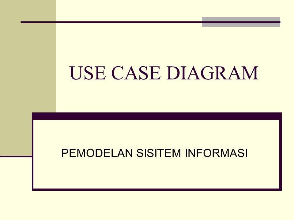 USE CASE DIAGRAM PEMODELAN SISITEM INFORMASI