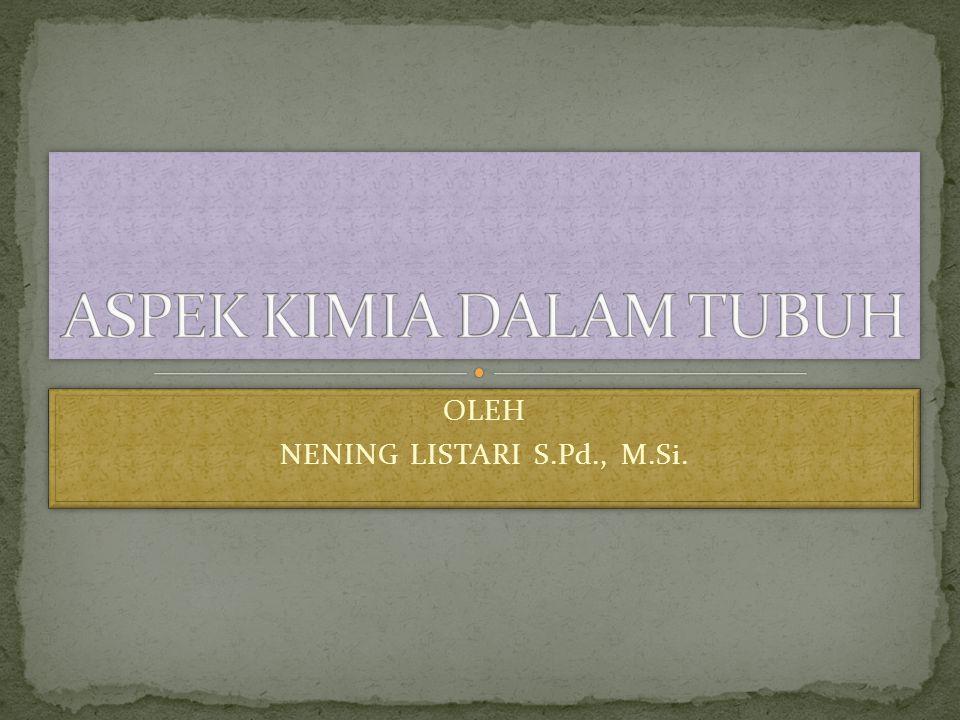 OLEH NENING LISTARI S.Pd., M.Si. OLEH NENING LISTARI S.Pd., M.Si.