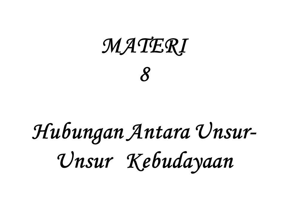 MATERI 8 Hubungan Antara Unsur- Unsur Kebudayaan