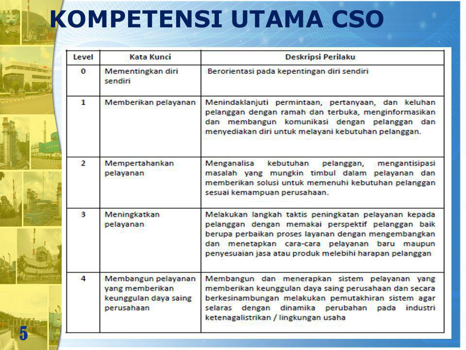 KOMPETENSI UTAMA CSO 5