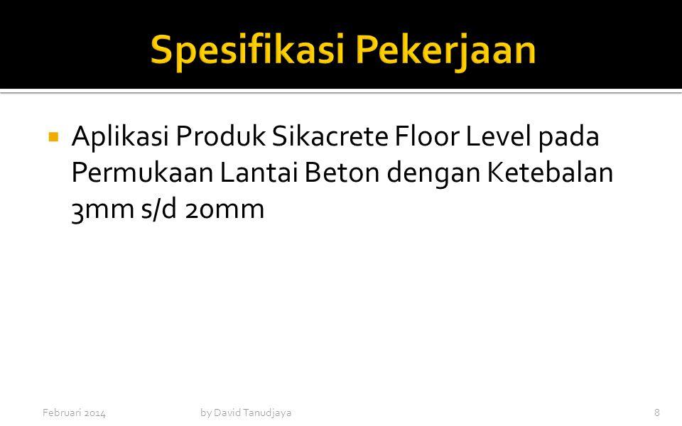  Aplikasi Produk Sikacrete Floor Level pada Permukaan Lantai Beton dengan Ketebalan 3mm s/d 20mm Februari 2014by David Tanudjaya8