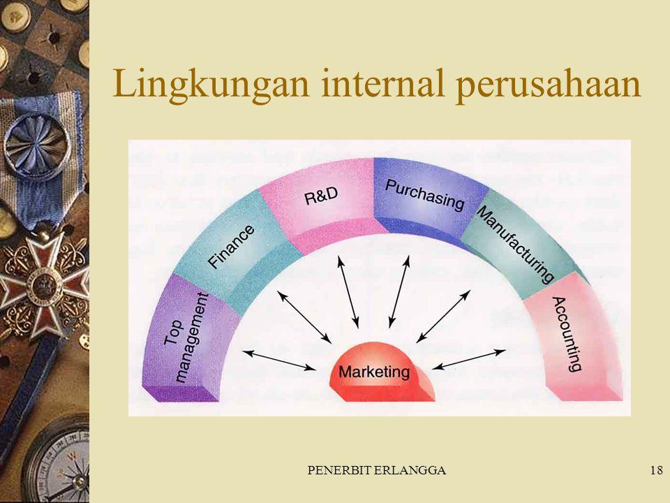 PENERBIT ERLANGGA18 Lingkungan internal perusahaan