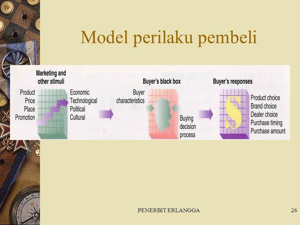 PENERBIT ERLANGGA26 Model perilaku pembeli