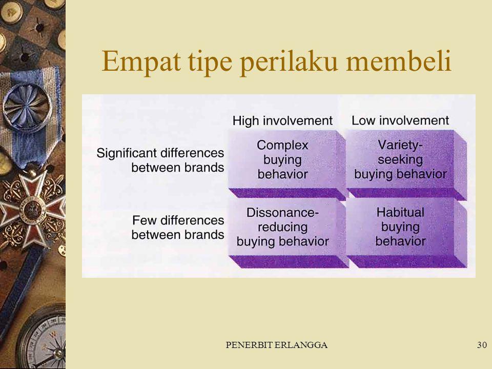 PENERBIT ERLANGGA30 Empat tipe perilaku membeli