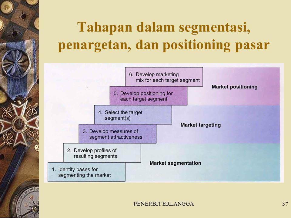 PENERBIT ERLANGGA37 Tahapan dalam segmentasi, penargetan, dan positioning pasar
