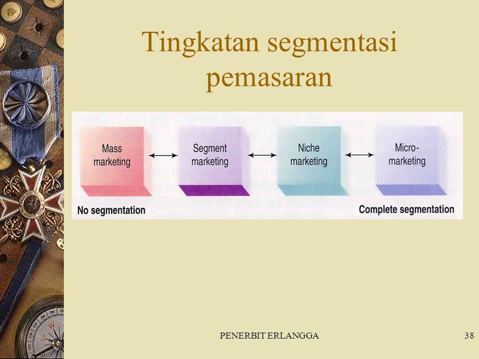 PENERBIT ERLANGGA38 Tingkatan segmentasi pemasaran
