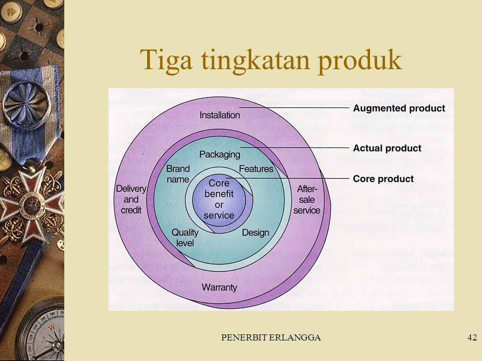 PENERBIT ERLANGGA42 Tiga tingkatan produk