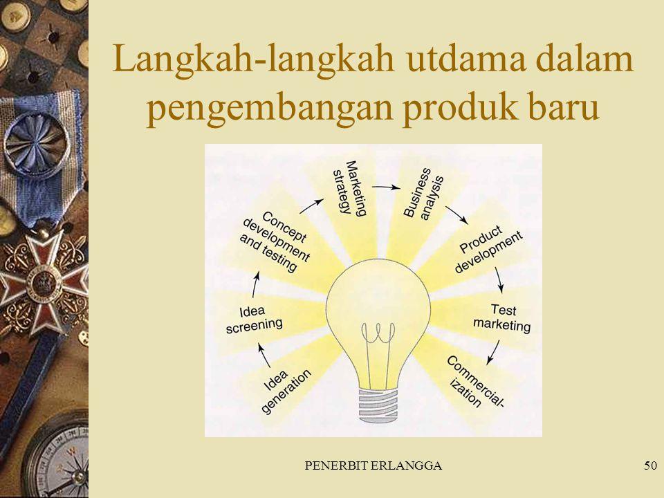 PENERBIT ERLANGGA50 Langkah-langkah utdama dalam pengembangan produk baru