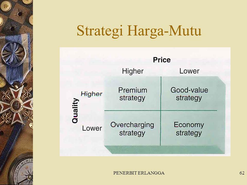 PENERBIT ERLANGGA62 Strategi Harga-Mutu
